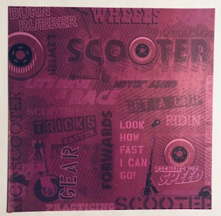 Scooter Collage Paper