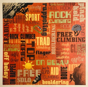 Rock Climbing Collage Paper