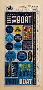 H2O Boating Stickers