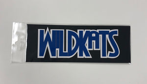 WildKats Blue White Diecut
