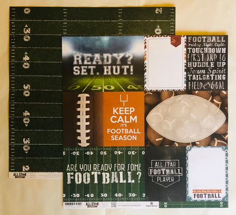 Set. Hut! Football Paper