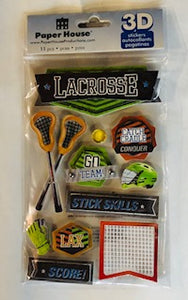 Lacrosse 3D Stickers