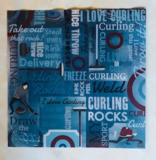 Curling Collage Paper