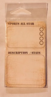 Sports Stats Journaling Card