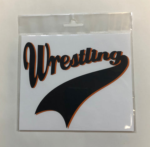Wrestling Diecut Black and Orange