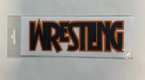 Wrestling Diecut Orange and Black