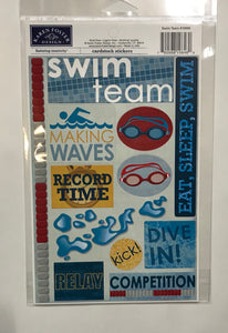 Swim Team Stickers