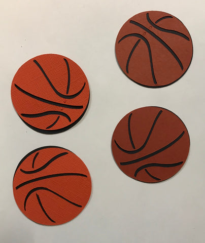 Basketball Die Cut 2""