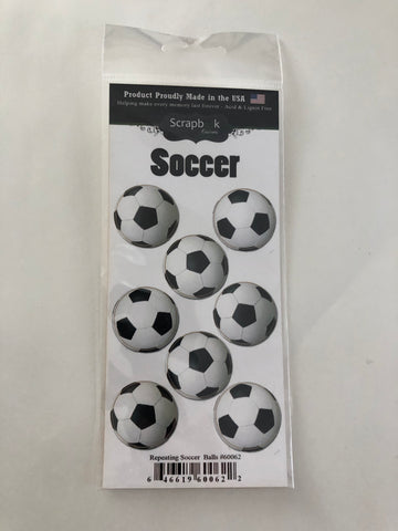Repeating Soccer Ball Stickers