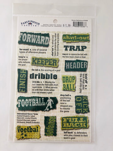 Soccer Definitions Sticker Sheet