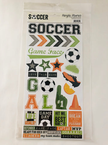 Soccer Cardstock Stickers