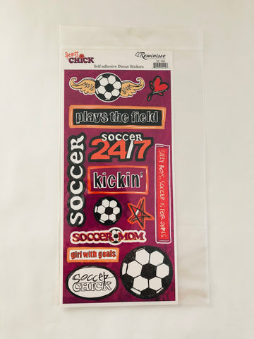 Sports Chick Soccer Stickers