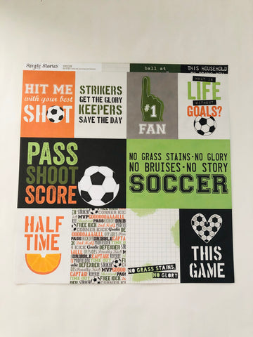 Soccer Journaling Card Elements