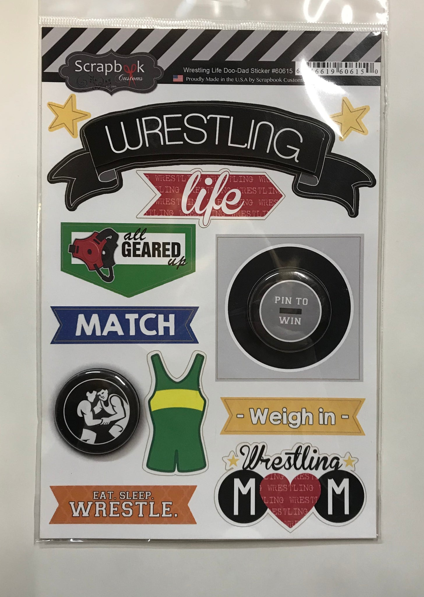 Wrestling Life Doo Dad Sticker