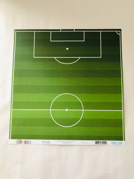 Soccer Ball and Field Paper