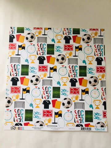 Soccer Journaling Cards Paper