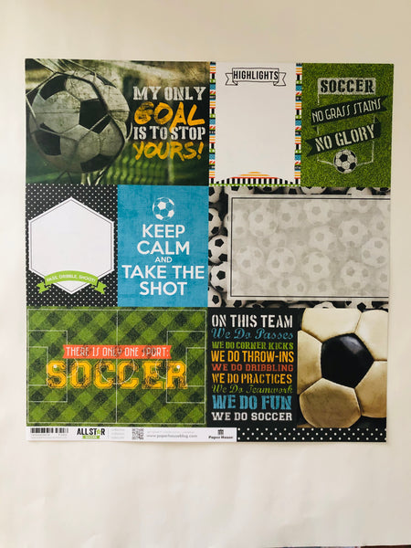 Soccer Journaling Card Paper