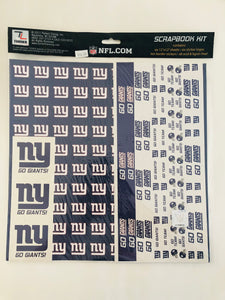 NFL New York Giants Scrapbook Kit