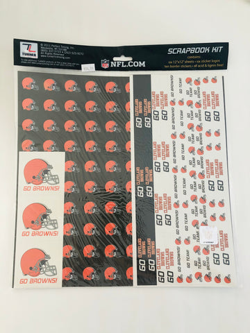 NFL Cleveland Browns Scrapbook Kit