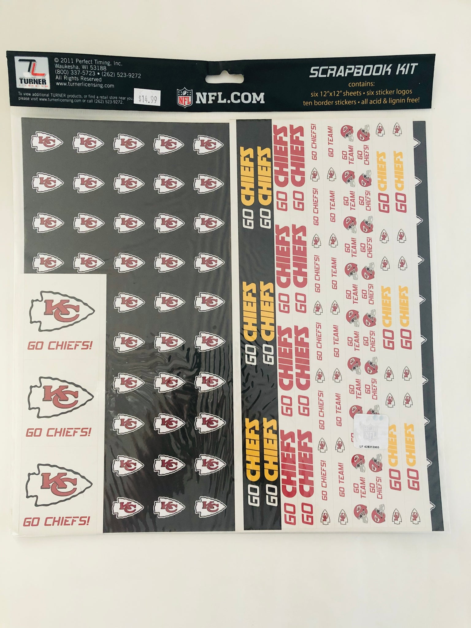 NFL Kansas City Chiefs Scrapbook Kit