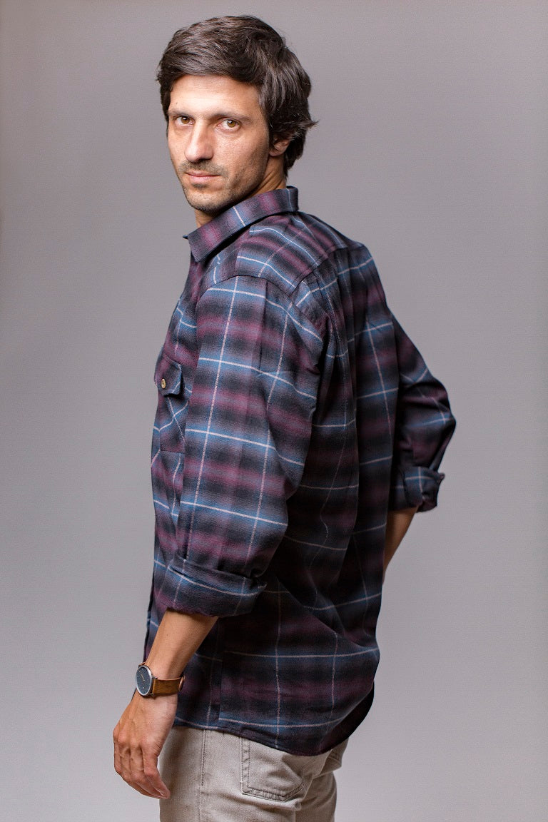 Grand Canyon Checked Flannel Shirt - FLUYT