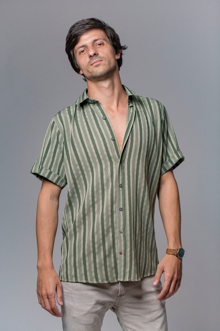 Tamarindo Green Stripe Shirt