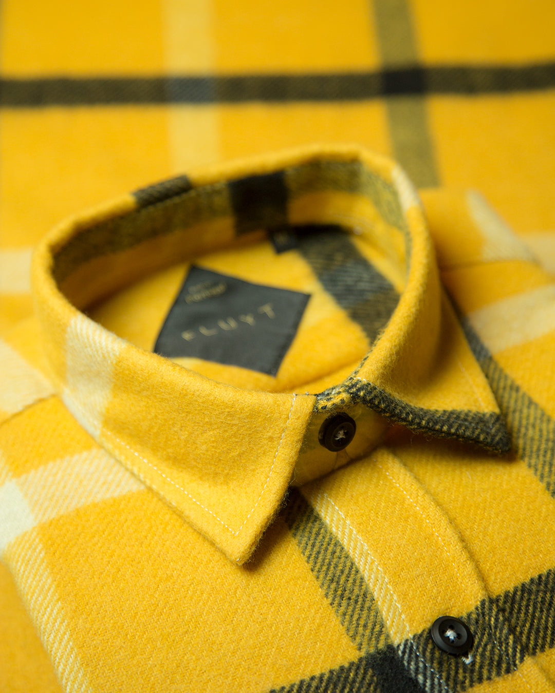Yellow Flannel Shirt (80% Wool)