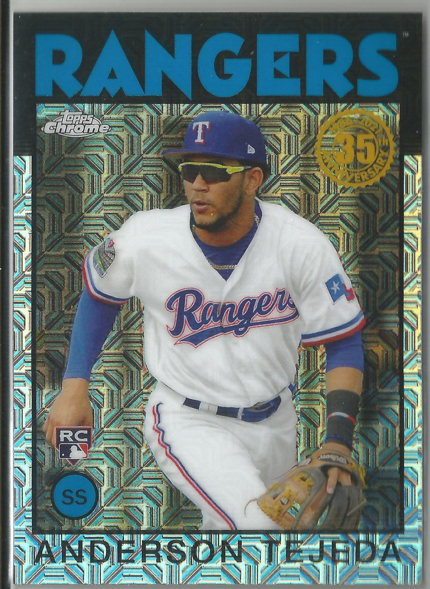 Anderson Tejeda 2021 Topps Series 1 Chrome Silver Pack Mojo Refractor Rookie