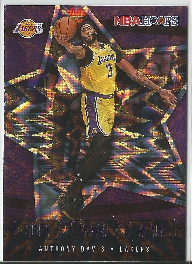 Anthony Davis 2020-21 Panini NBA Hoops Lights Camera Action Purple Explosion #20