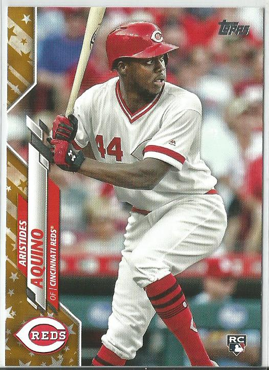 Aristides Aquino 2020 Topps Complete Set Series 1 Rookie Card Gold Star Boarder