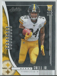 Benny Snell Jr. 2019 Absolute Football Rookie Card - jjb-hobby-crafts
