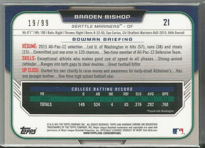 Braden Bishop 2015 Bowman Chrome 1st Bowman Green Refractor 19/99 - jjb-hobby-crafts
