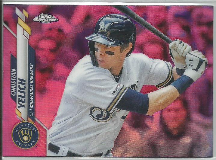 Christian Yelich 2020 Topps Chrome Pink Refractor #138