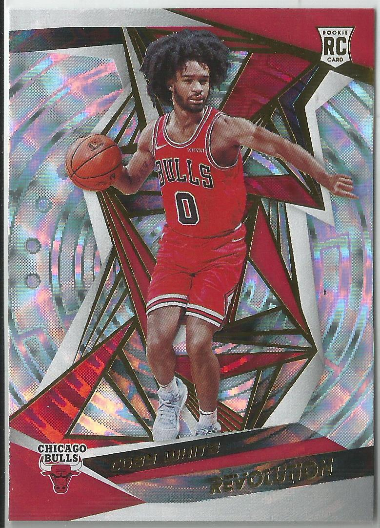 Coby White 2019-20 Revolution Rookie Card Fractal Refractor #106