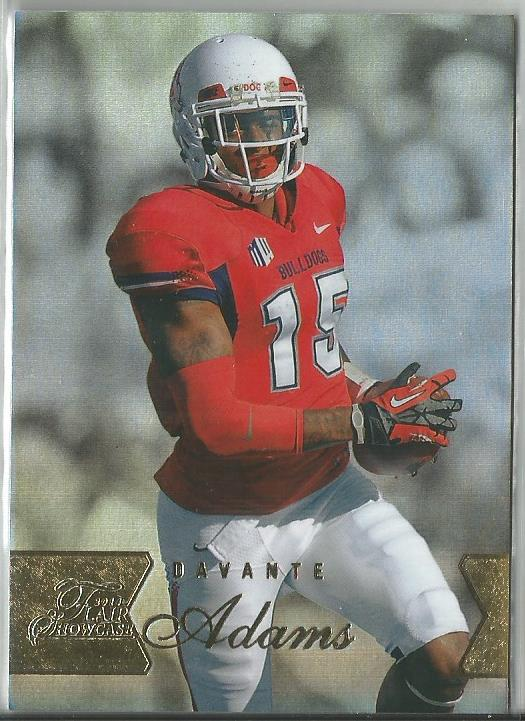 Davante Adams 2014 Flair Showcase Row 1 Rookie Card #124