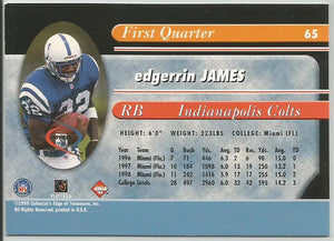 Edgerrin James 1999 Collectors Edge Millennium Collection First Quarter Rookie - jjb-hobby-crafts