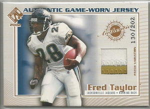 Fred Taylor 2002 Pacific Private Stock Authentic Game-Worn Jersey 130/202 - jjb-hobby-crafts