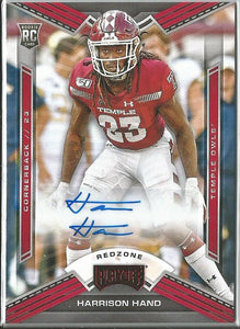 Harrison Hand 2020 Chronicles Draft Picks Playoff Redzone Rookie Autograph