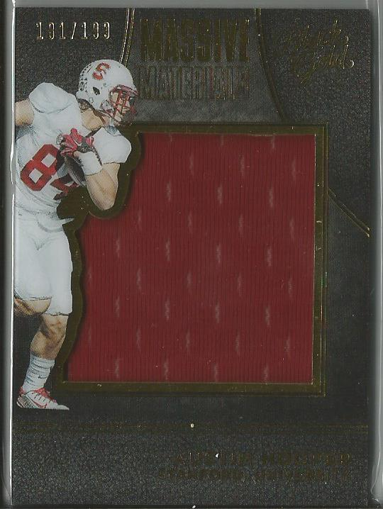 Austin Hooper 2016 Black Gold Massive Materials Rookie Relic Card 181/199 - jjb-hobby-crafts