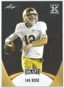 Ian Book 2021 Leaf Draft Rookie Card Gold Parallel #07