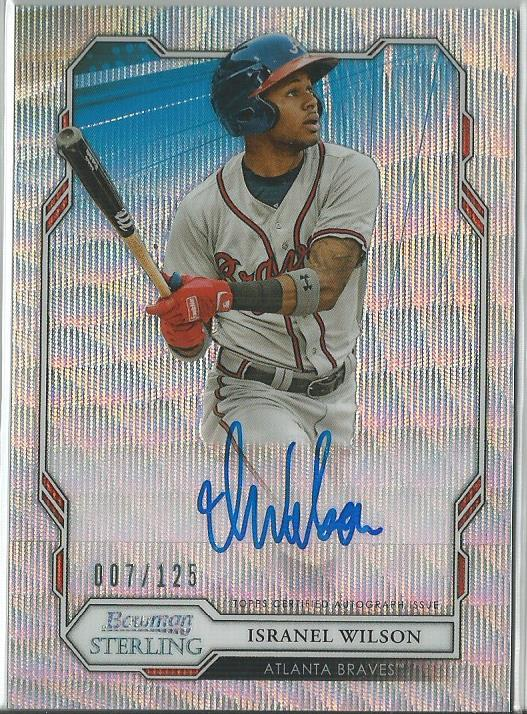 Isranel Wilson 2019 Bowman Sterling Prospect Autograph Wave Refractor 007/125 - jjb-hobby-crafts