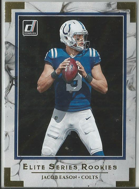 Jacob Eason 2020 Donruss Elite Series Rookies Insert Card #ESR-JE