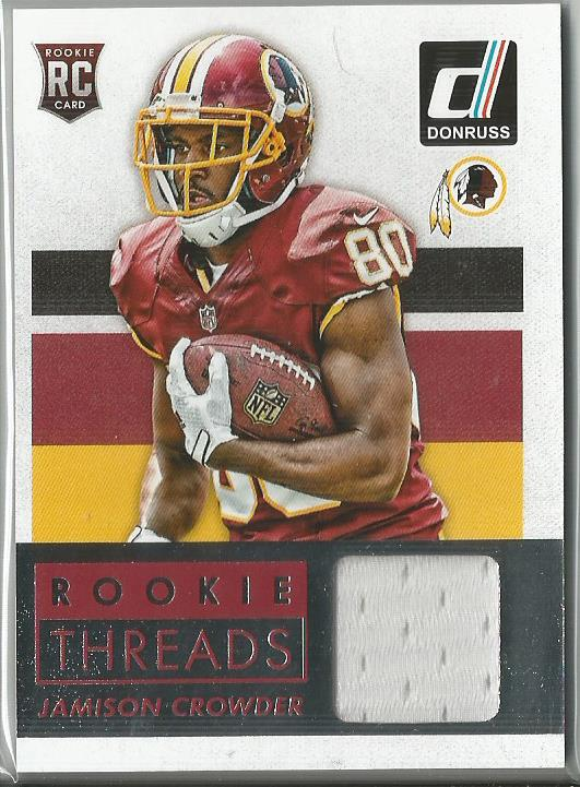 Jamison Crowder 2015 Donruss Rookie Threads #DRT-JC Relic Card - jjb-hobby-crafts