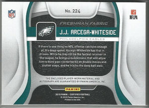 J.J. Arcega-Whiteside 2019 Certified Freshman Fabric Rookie Auto Orange 156/299