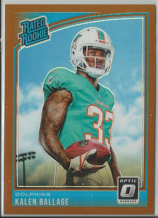Kalen Ballage 2018 Donruss Optic Rated Rookie Bronze Prizm - jjb-hobby-crafts