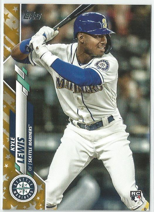 Kyle Lewis 2020 Topps Complete Set Series 1 Rookie Card #64 Gold Star Boarder