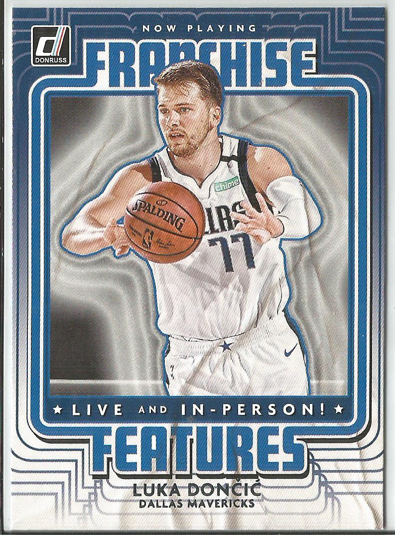 Luka Doncic 2020-21 Donruss Franchise Features Insert Card #7