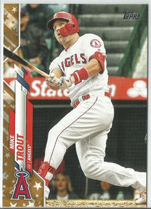Mike Trout 2020 Topps Complete Set Series One #1 Gold Star Boarder