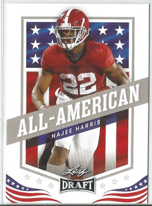 Najee Harris 2021 Leaf Draft All-American Rookie Card #45