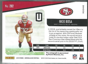 Nick Bosa 2019 Unparalleled Rookie Autograph #202